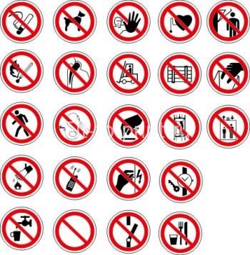 наклейка знаки запрета