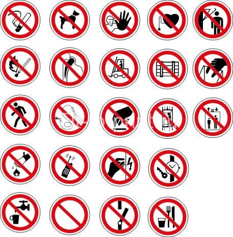 знаки запрета