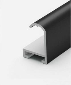 Профиль алюминиевый черный