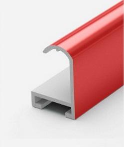 Профиль алюминиевый красный
